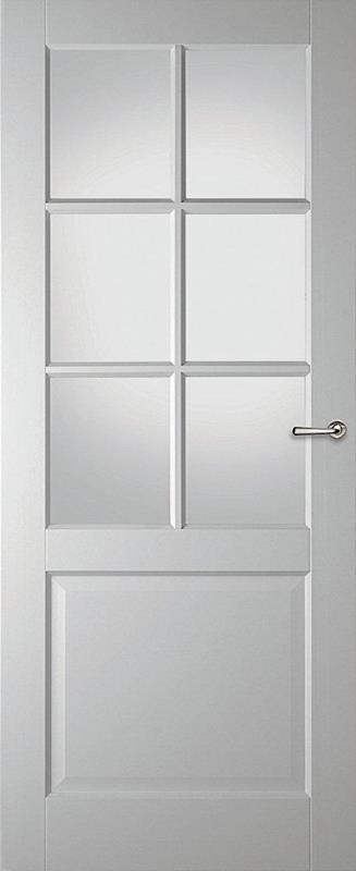 moodplus binnendeuren Grenoble, facetglas blank