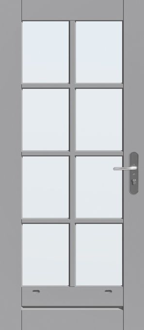 8 ruitsverdeling met blank isolatieglas