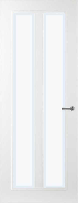 Gezandstraald glas blanke rand